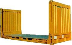 20 футовый контейнер - платформа